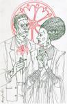 Frankenstein with bride