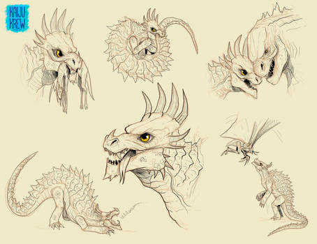 Anguirus Doodles