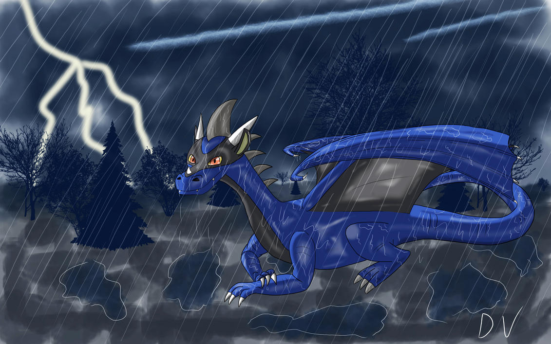 Rainy Day for a Reptile by dayieldsign