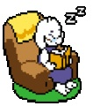 Toriel With Her Reading Glasses In Her Chair by TorielAsriel