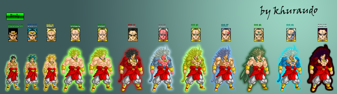 Sprite: Broly normal-ssj10 by khuraudo on DeviantArt