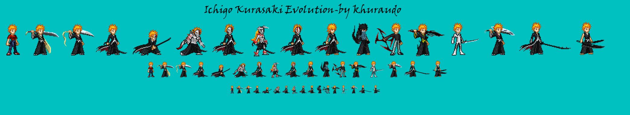 Ichigo Kurosaki Evolution by khuraudo by khuraudo