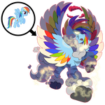 Gigantamax Rainbow Dash