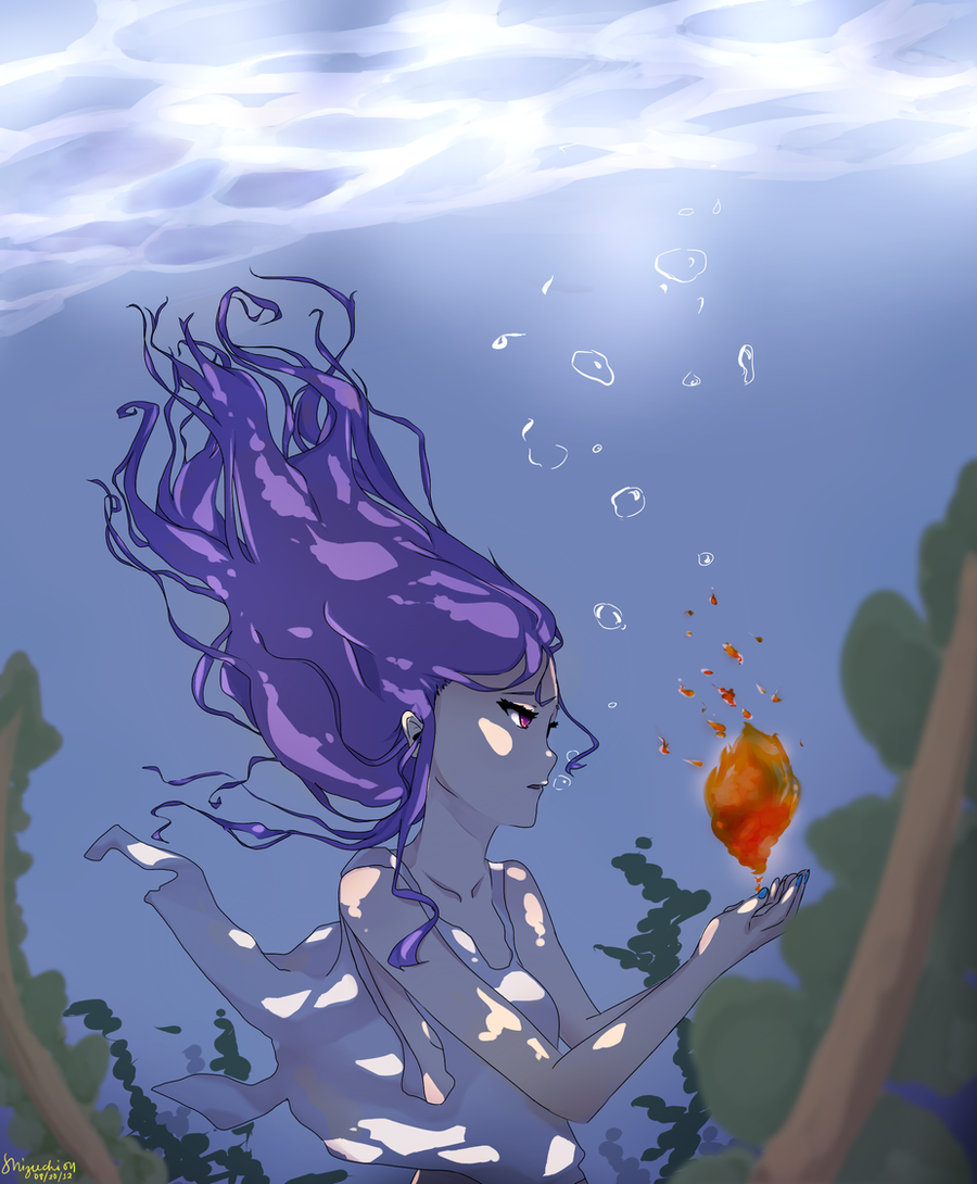 UnderWater Anime Drawing by miisa-011 on DeviantArt