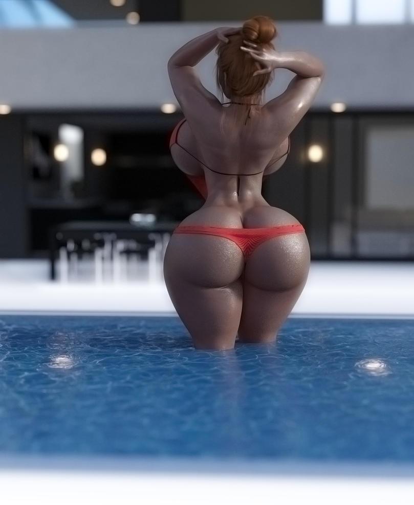 poolside posin' by EndlessRain0110