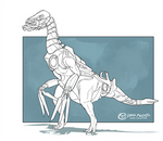 Cyborg Dino - Therizinosaurus by DrManiacal