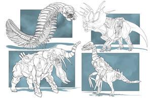 Cyborg Dinos by ChrisMoschler