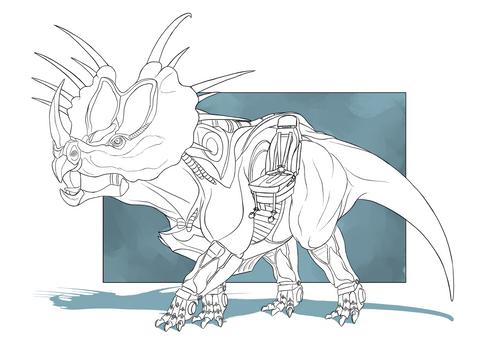 Cyborg Dino - Styracosaurus