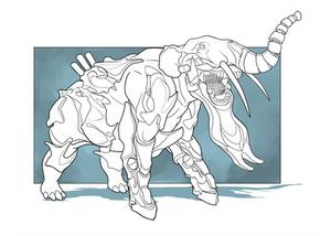 Cyborg Dino - Platybelodon