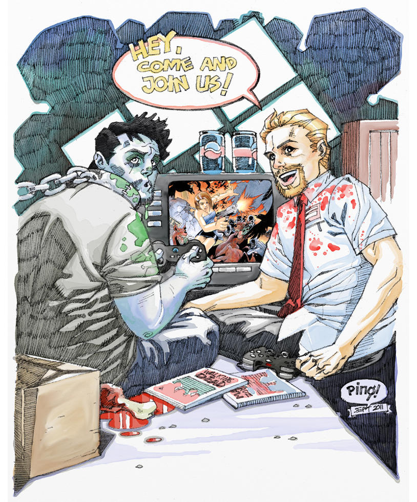 Shaun of the Dead Art Jam by pipin
