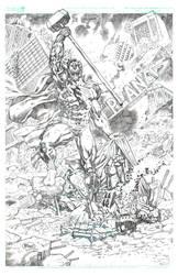 Cyborg Superman Vs Steel by pipin