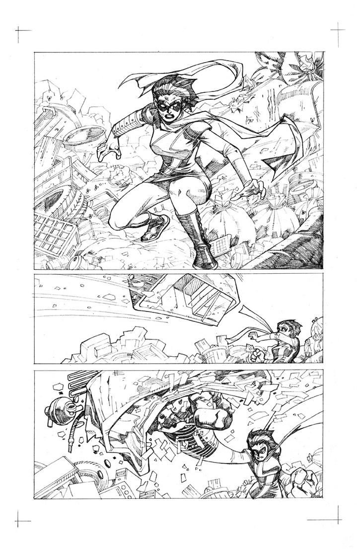 Ms. Marvel Garden State Sample Page 01 by pipin
