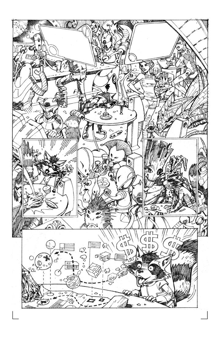 Rocket Raccoon Sample Page 03 by pipin