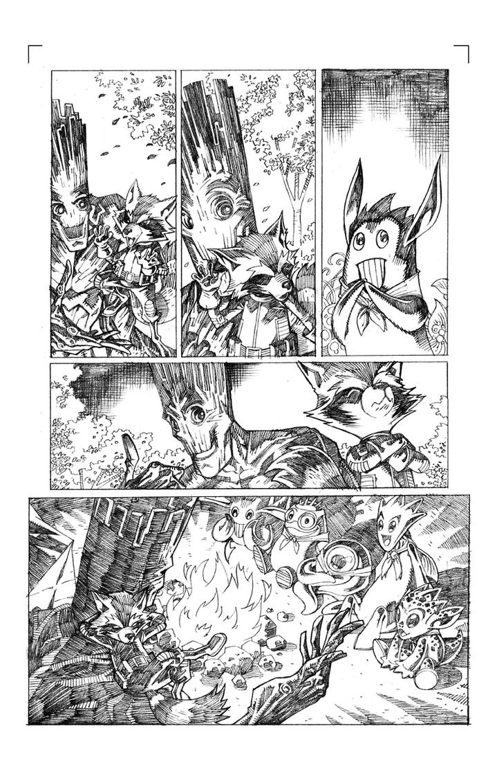 Rocket Raccoon Sample Page 02 by pipin