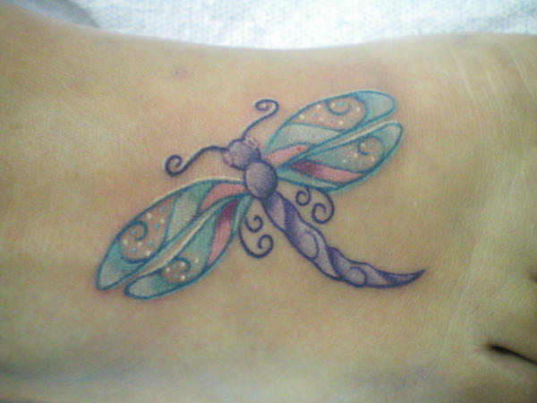 Wife's dragonfly tattoo - dragonfly tattoo