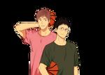 Kuroko's Basketball - Junpei Hyuga, Kiysohi Teppei