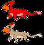 Cardinal-Lizards by KallyToonsStudios