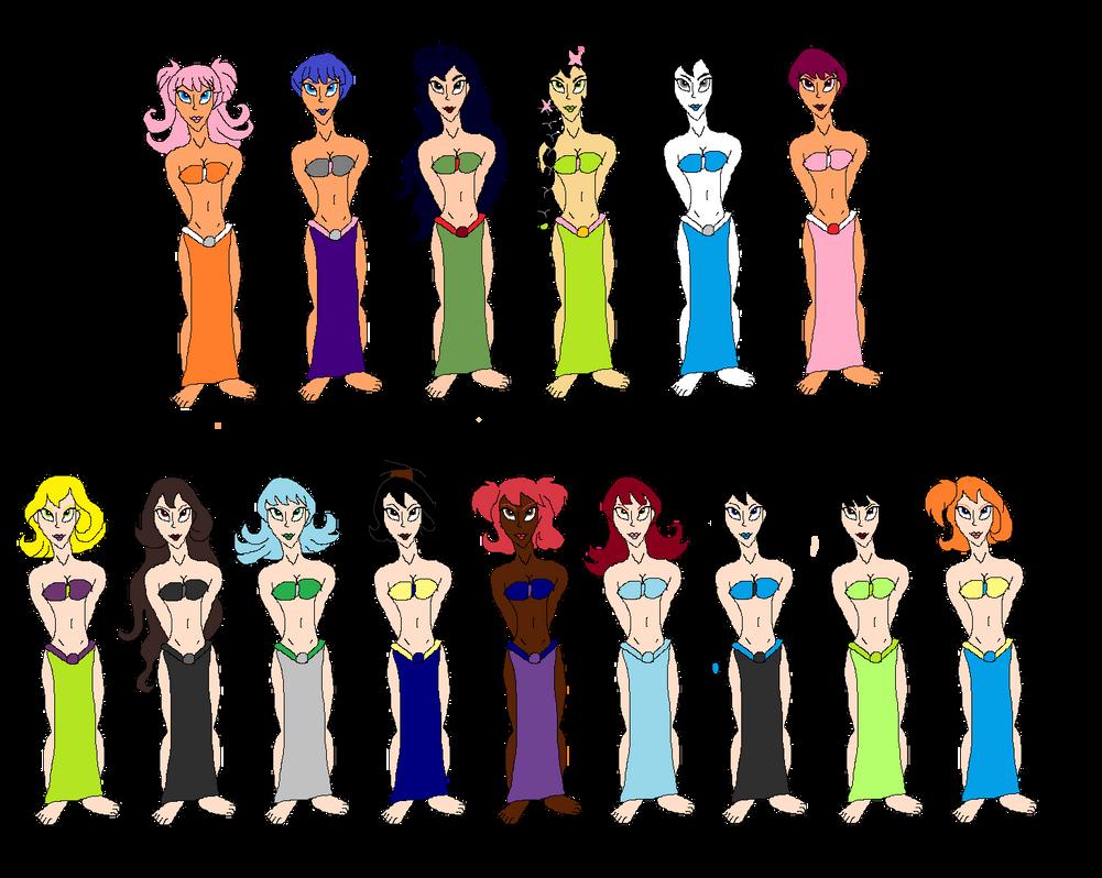 15 Jungle Slave Girls by tomyucho by KallyToonsStudios