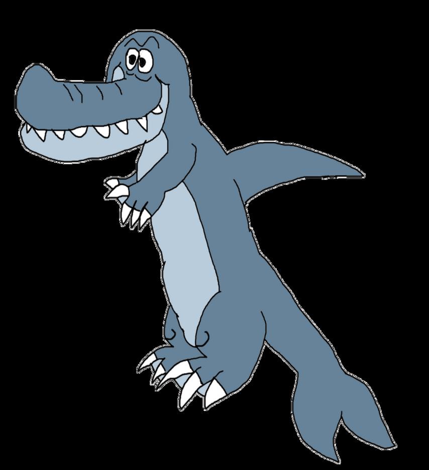Goofy Dolphin Monster by KallyToonsStudios
