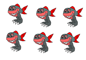 Piranha Monsters by KallyToonsStudios