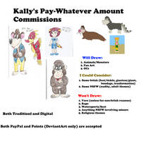 Pay-Whatever-Amount Commission Menu