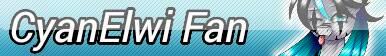 CyanElwi Fan Button by KittyBelli24