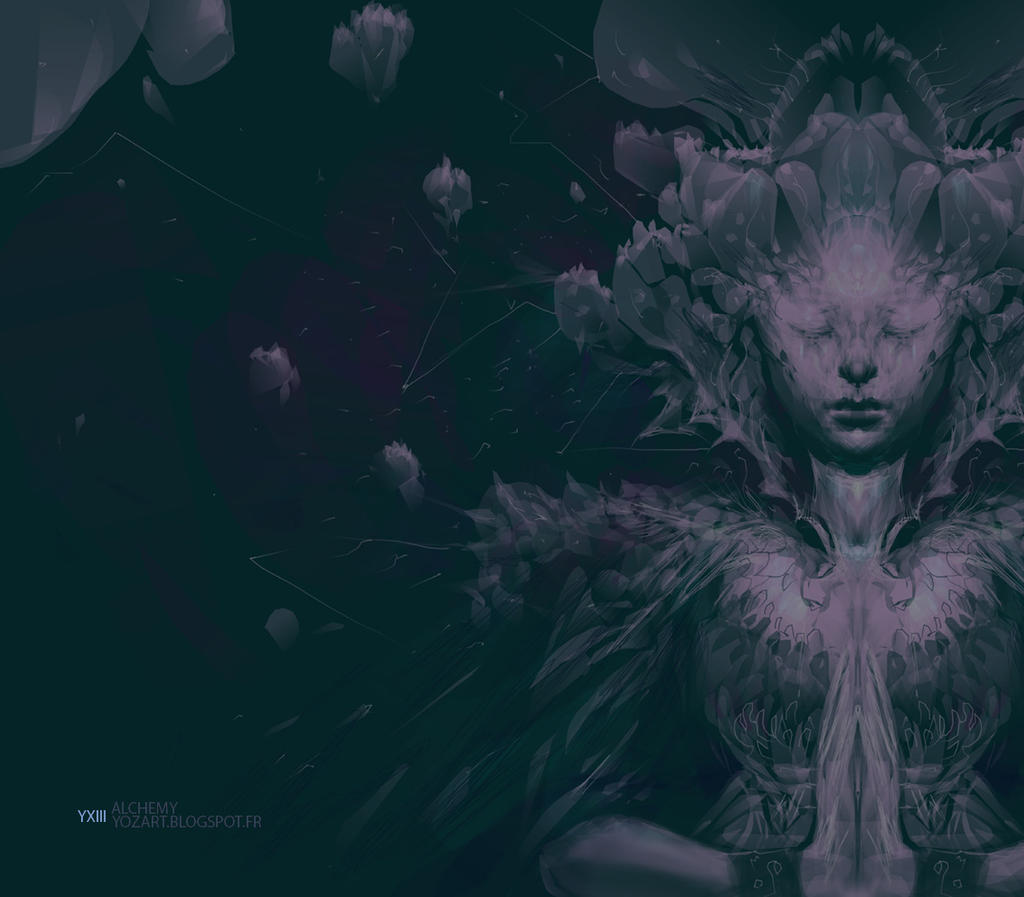 cosmic prayer by yozartwork