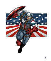 Captain America finish by goukiyan