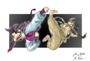Juri VS Ibuki by goukiyan