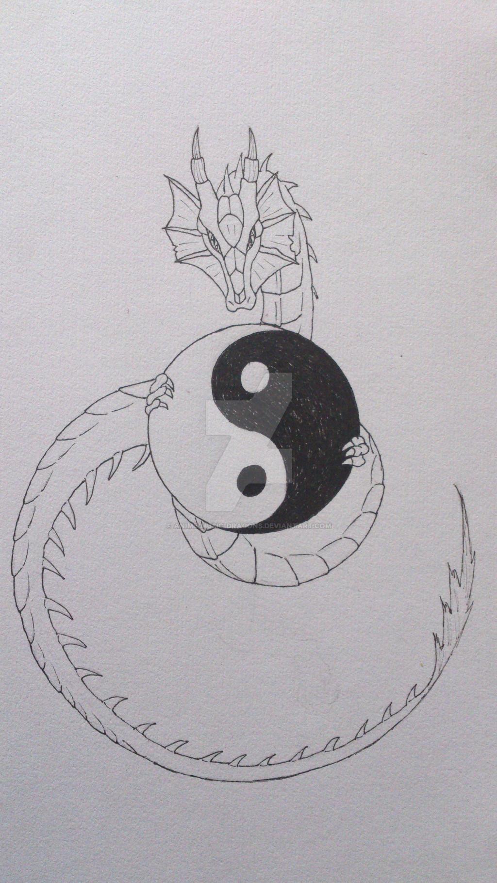 Yin+Yang Dragon by Anime-Music-Dragons on DeviantArt