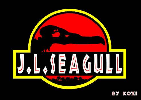 J. L. Seagull - Jurassic Park style logo