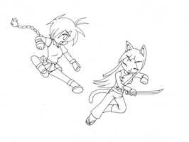 Dibujo plumon Yetzy vs cat? by OCR-ED-209