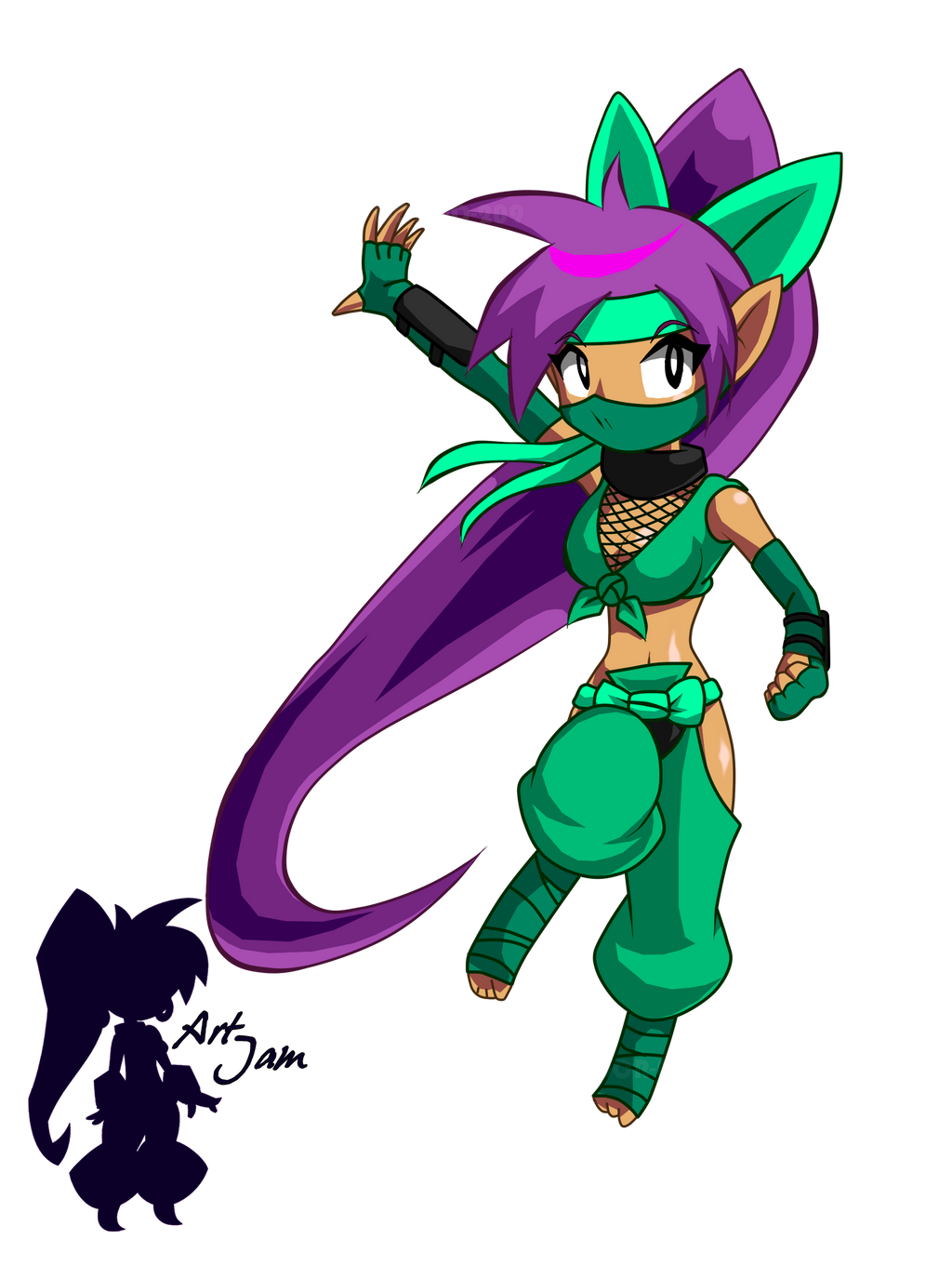 Shantae Half Genie costume ninja by OCR-ED-209 on DeviantArt