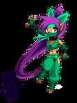 Shantae Half Genie costume ninja by OCR-ED-209