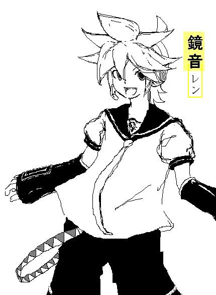 Doodles - Kagamine Len by Elial