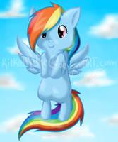 Rainbow Dash Again by Kitzophrenic