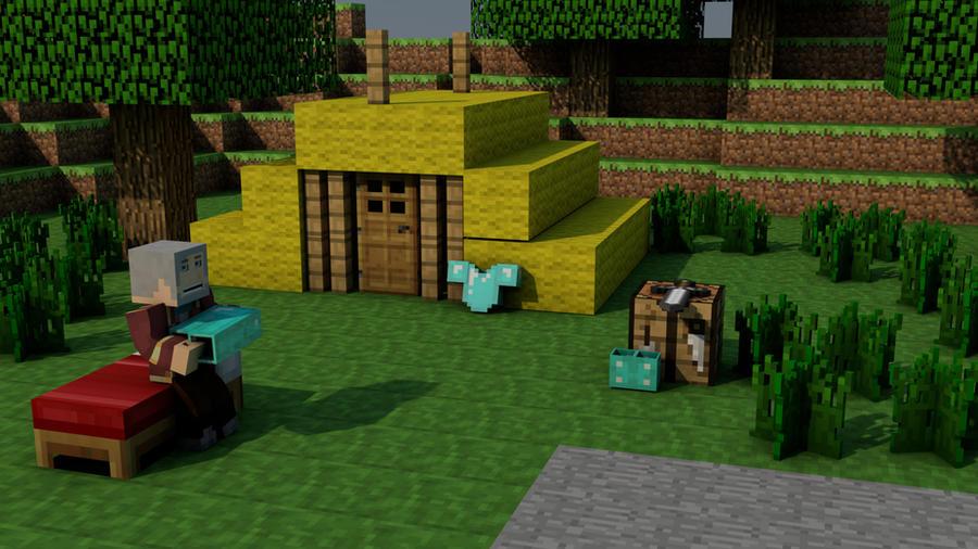 Minecraft Animated Background Auto Design Tech
