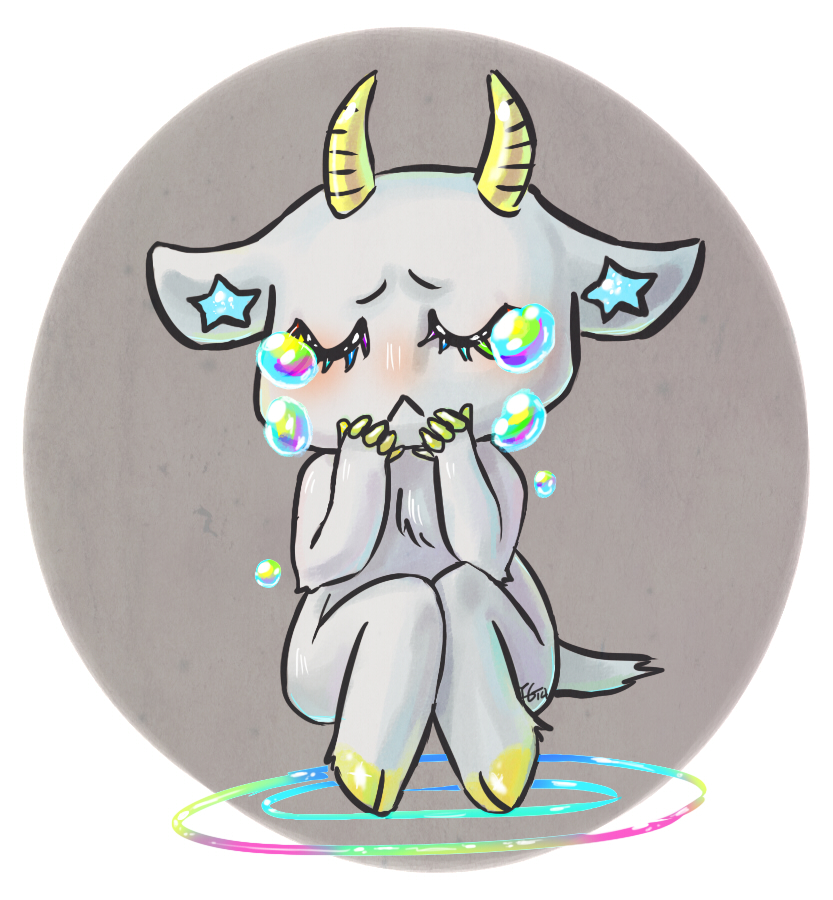 Sad sad goat by IncubusGrave