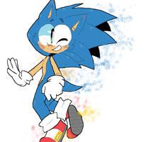 Sonic the hedgehog by cometkittygalaxy
