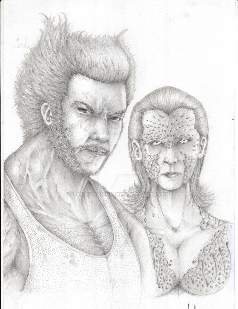 Wolverine x Mystique by Aaryoniero