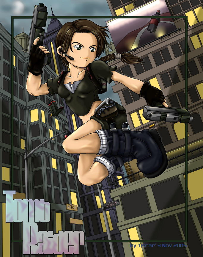 Tomb Raider Chibi Color by kurokeren