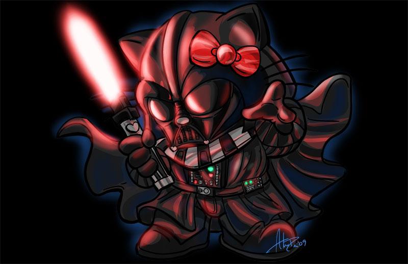 Hello darth kitty by imagesbyalex on deviantart - Dark vador hello kitty ...