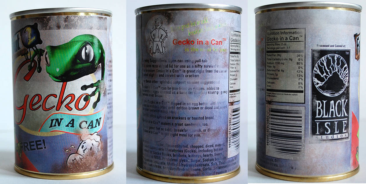 Fallout 2 Gecko in a Can by imagesbyalex on DeviantArt