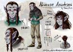 Alvouse Aradvani - reference sheet and bio
