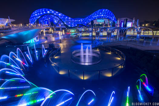 Tomorrowland Tron Light Cycle Coaster