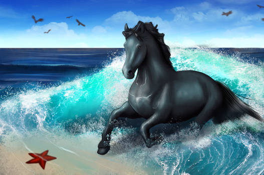 Horse in the sea - finished