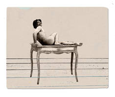 Ode to a man on table by derkert
