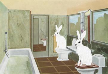 Ghost Bunnies by derkert