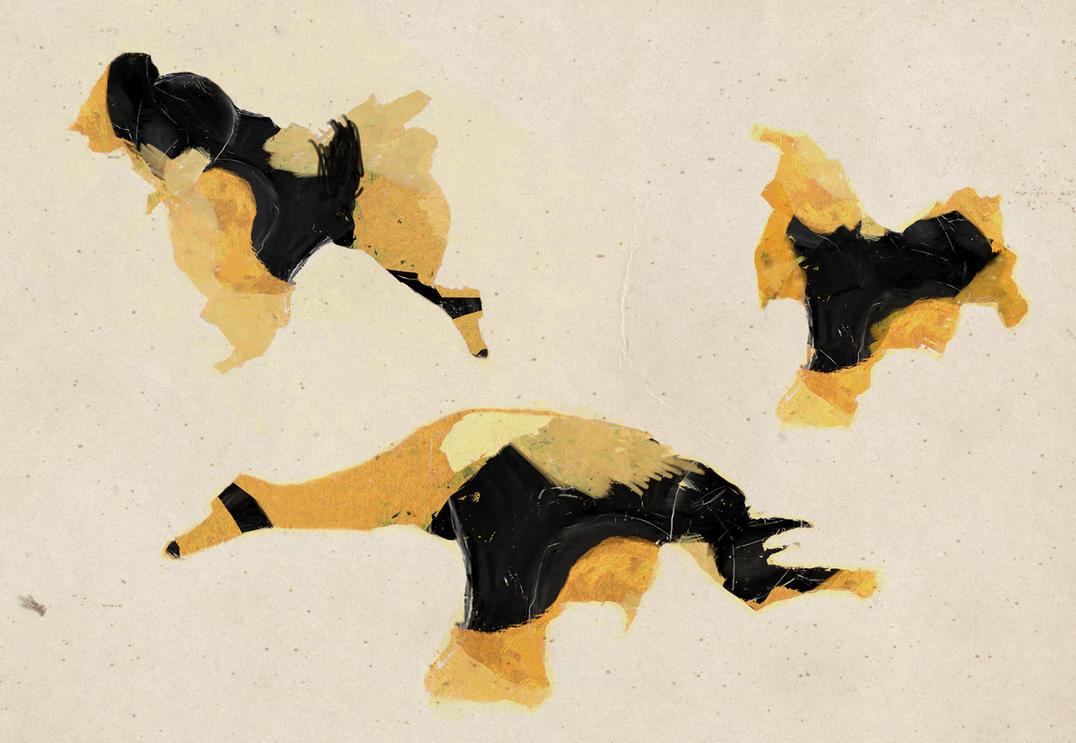 Yellow creatures by derkert
