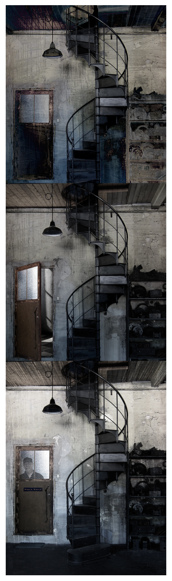 Spiral staircase trio by derkert